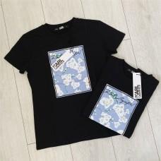Karl Lagerfeld tričko černé floral