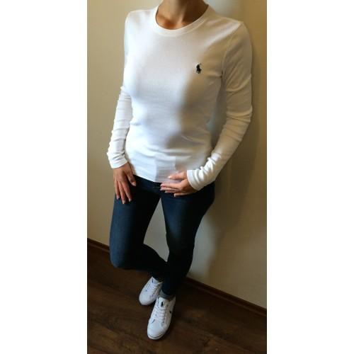 32e2ee19db Ralph Lauren Dlouhoruká tričko bílé